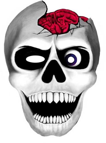 Masker XXL Skull Doodshoof