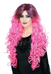 Gothic Ombre Pruik Pink Luxe