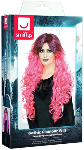 Gothic Pruik Ombre Pink Luxe-2