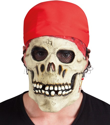 Latex Skull Piraten Masker
