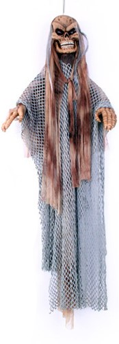 Hangdeco Rondraaiende  Skelet Bruin (135cm)