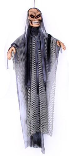 Rondraaiende Hangdeco Skelet Grijs (135cm)