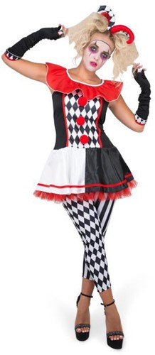 Halloween Dameskostuum Nar Jester