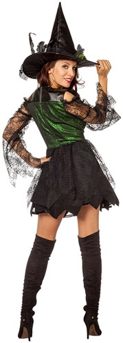 Heksenjurk Green Witch Luxe -3