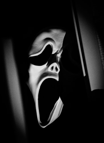 Plastic Masker Scream met Doek-2