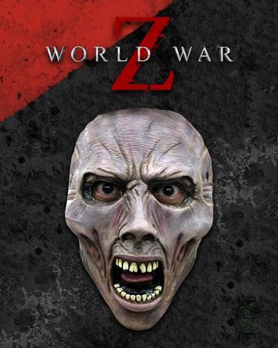 World War Z Gezichtsmasker - Scream Zombie (latex)-2