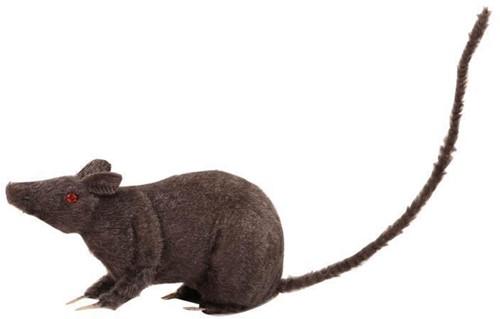 Decoratie Zwarte Rat (24cm)