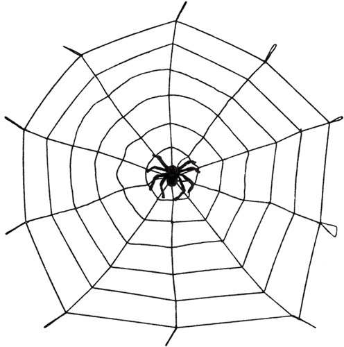 Elastische Spinnenweb met Spin (1,5 m)