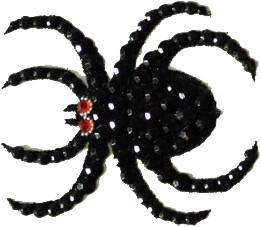 Spin Glittersteentjes Tatoeage (6cm)