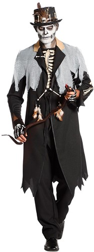 Zwarte Voodoo Koning Jas voor Heren