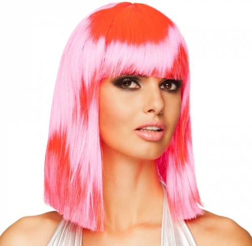 Pink Half Lang Bob Pruik