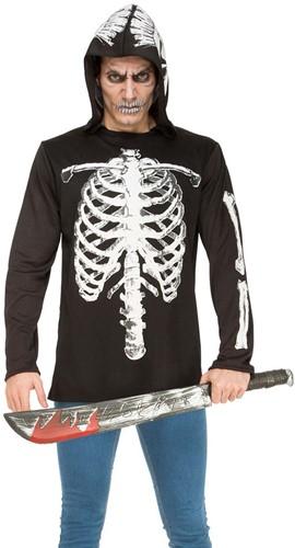 Hoodie Skeleton Geraamte voor volwassenen