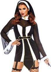 Twisted Sister - Sexy Nonnen kostuum voor dames