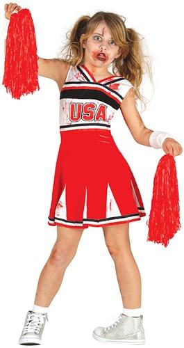 Kostuum Cheerleader  Zombie  voor meisjes