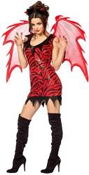 Duivelsjurkje Luxe Rood/Zwart