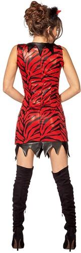 Duivelsjurkje Luxe Rood/Zwart-2
