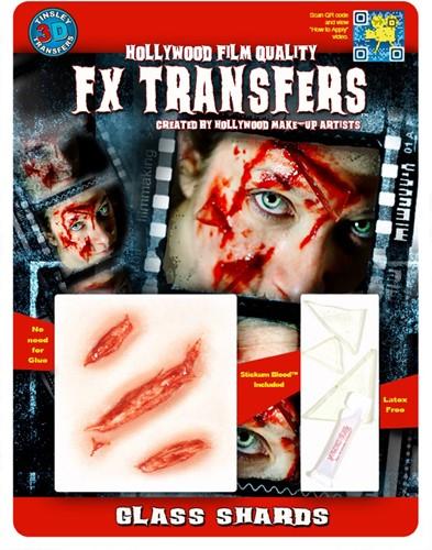 Professionele Special FX Wond - Wonden met Glasscherven