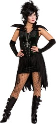 Black Gothic Damesjurkje met Glitters
