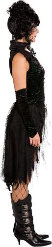 Black Gothic Damesjurkje met Glitters-2