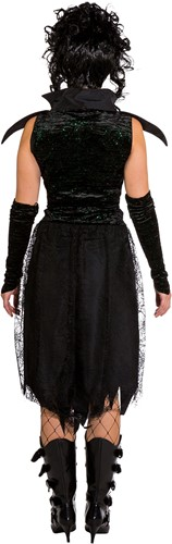 Black Gothic Damesjurkje met Glitters-3