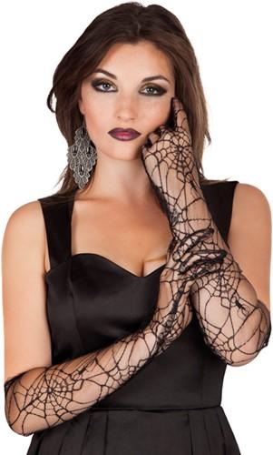 Spinnenweb Handschoenen