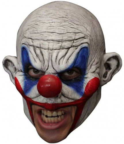Latex Masker Enge Clown (Kinloos)