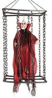 Hangdecoratie Vampier Bewegend in een Kooi (50cm)