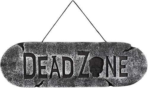 Dead Zone Wegwijzer met Doodshoofd (15x48 centimeter)