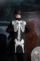 Halloween Skeletten Jas voor heren (sfeerbeeld achterkant)