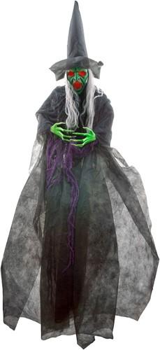 Halloween Heks Hangdecoratie  met Bewegingssensor (180cm)