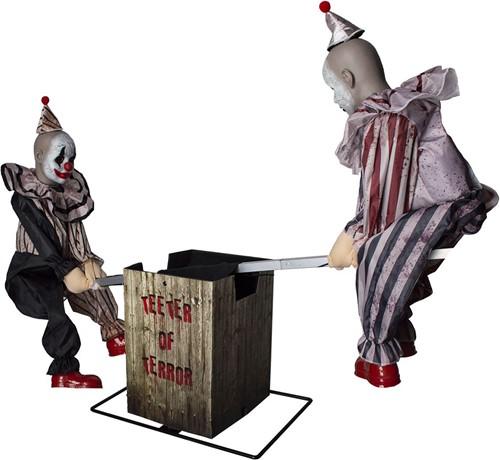 Decoratie Halloween Clowns op Wipwap (125x313x95cm)