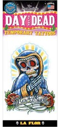 Day of the Dead La Flor Tattoo