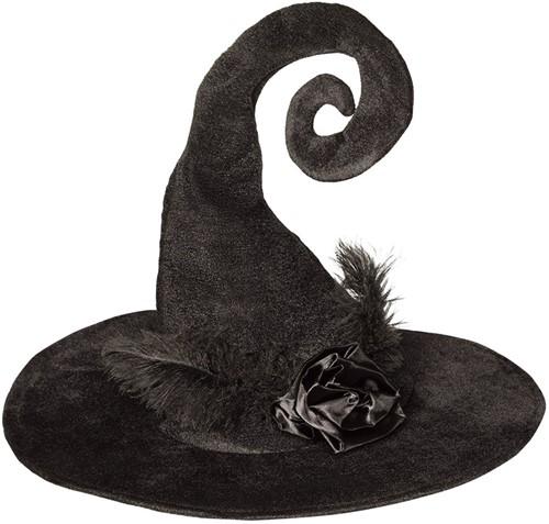 Heksenhoed Zwart Roos Luxe