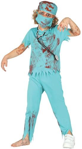 Halloweenkostuum Zombie Chirurg voor kinderen