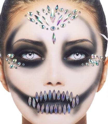 Gezicht Stickers Halloween Queen Pearl Luxe