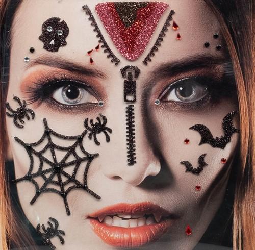 Gezicht Stickers Halloween Bloed
