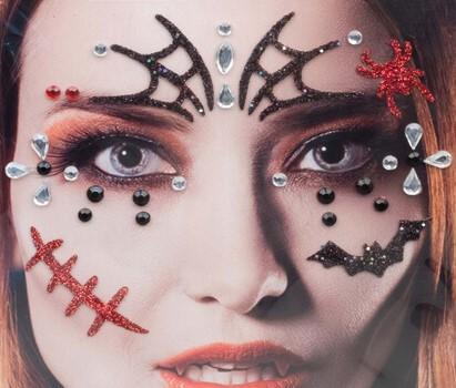 Halloween Gezicht Stickers