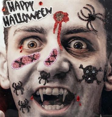 Gezicht Stickers Halloween Vampier