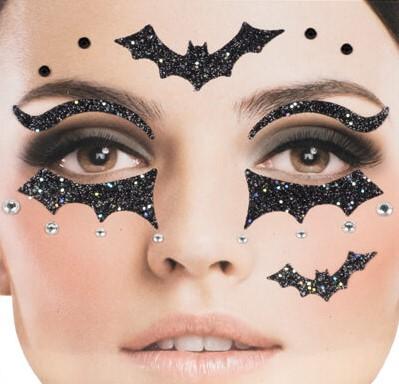 Gezicht Stickers Halloween Vleermuis