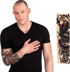 Dragon Skull Tattoo Mouw