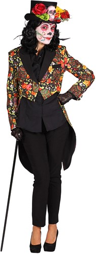 Dames Slipjas  Halloween Mexican Skull Coloured