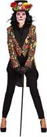 Dames Slipjas  Halloween Mexican Skull Coloured-2