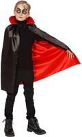 Cape Dracula Rood-Zwart voor kinderen