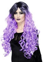 Gothic Pruik Ombre Paars Luxe