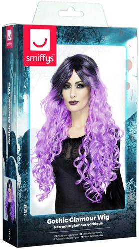 Gothic Pruik Ombre Paars Luxe-2