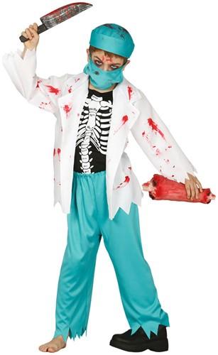 Halloweenkostuum Doctor Zombie voor kinderen