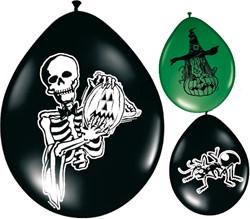 Ballonnen 8st Horror assorti