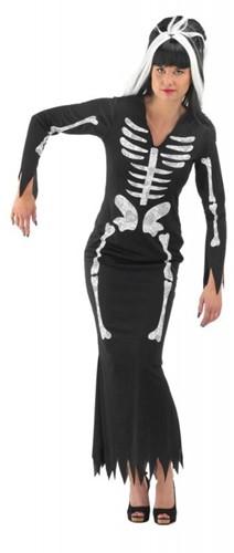 Skeletten jurk Halloween voor dames