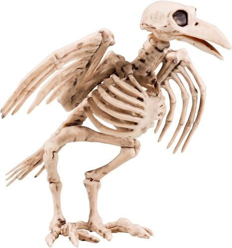 Skelet Kraai Halloween Decoratie (18 cm lang)