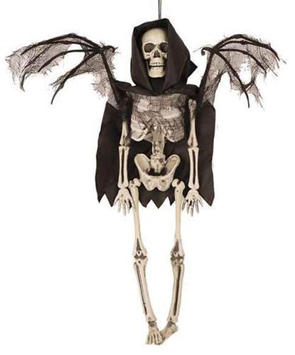 Halloween Hangdecoratie Skelet met Vleugels (40cm)